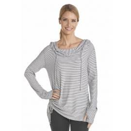 Sweatshirt fin à manches longues anti Uv Femme - Black/White