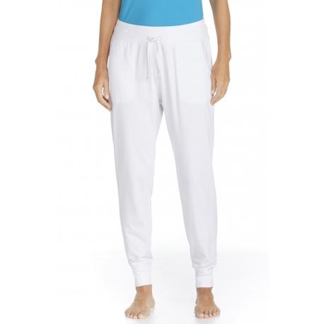 ZnO UV Pantalon Casual Femme- white