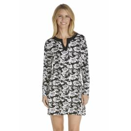 ZnO UV Robe de plage Femme - black/white