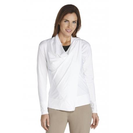 Gilet long fin pour Femmes ZnO - white