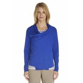 Gilet long fin pour Femmes ZnO - cobalt blue