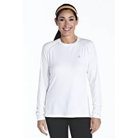 T-shirt Manches Longues Sport Anti UV - Blanc
