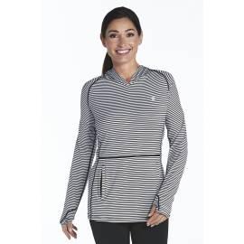 ZZnO Sweat à capuche Femme - black/white stripe