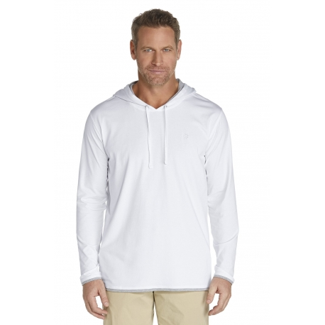 ZnO Sweat à capuche Homme - white