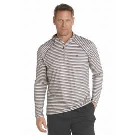 Pull fin Manches Longues à Zip Anti Uv Homme - light grey stripe