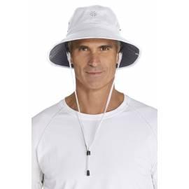 Bob anti UV homme, blanc