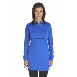Tunique anti Uv à Zip Femme - Kobalt Blue