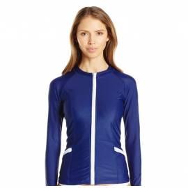 T-Shirt Manches Longues Femmes Anti Uv Rashguard - Bleu