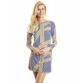 UPF 50+ Robe de plage - Jaune et Bleu