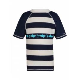 T-shirt de bain Enfant Anti Uv- Navy/White Stripe Shark