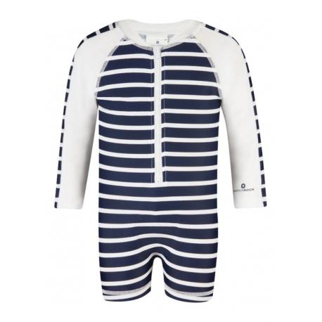 Combinaison manches longues- Navy/ White stripe