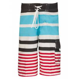 Boardshort anti UV - Slate/ Aqua/ Red stripe