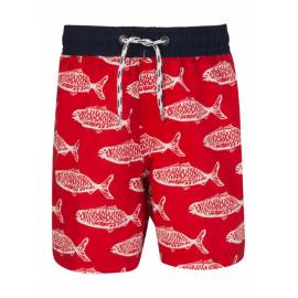 Boardshort anti UV - Red Hamton Fish