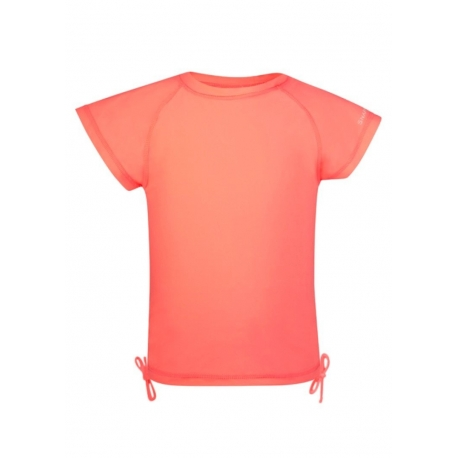 T-shirt de bain Enfant Anti Uv - Neon Coral