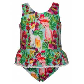 Combinaison Fille Anti UV - Tropical birds
