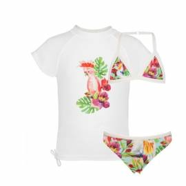 Triangle bikini & T-Shirt - Tropical Birds