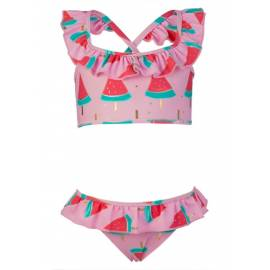 Sports Ruffle Bikini - Pastèque