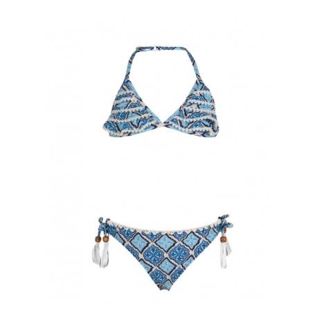 Ruffle Bikini - Moroccan