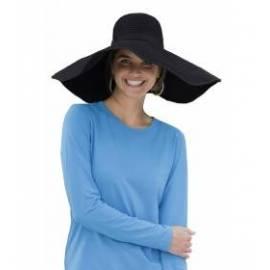 Chapeau de plage flexible anti-UV, noir