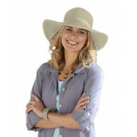 Chapeau de plage flexible anti-UV, beige
