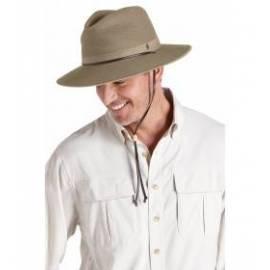 Chapeau en toile aéré et pliable, marron
