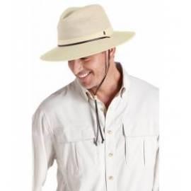 Chapeau en toile aéré et pliable, beige