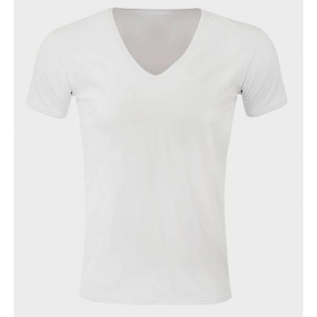 Tee-shirt anti transpirant homme col V, NanoDri