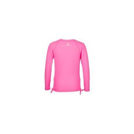 T-Shirt ant-irritations à manches longues, rose fluo