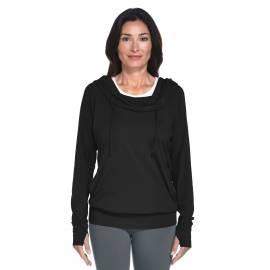 Coolibar - Sweat à capuche pour Femme anti UV - Noir