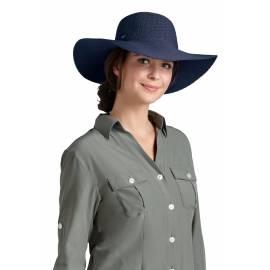 Coolibar - Chapeau Compressible pour Femme anti UV - Bleu