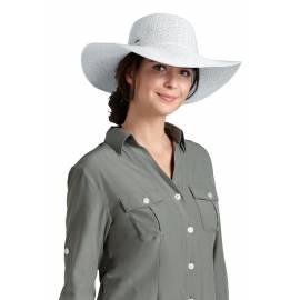 Coolibar - Chapeau Compressible pour Femme anti UV - Blanc