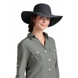 Coolibar - Chapeau Compressible pour Femme anti UV - Noir