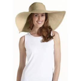 Coolibar - Chapeau Femmes anti UV à bord larges - Tan