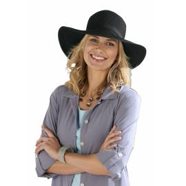 Coolibar - Chapeau pour Femmes Anti UV - Noir