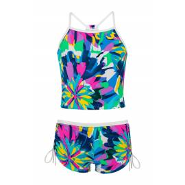 Snapper Rock - Tankini pour Femme anti UV - Tropical Neon