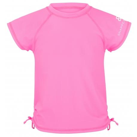 Snapper Rock - Tee shirt à manches Courtes Anti UV - Néon Rose