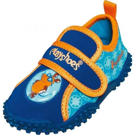 Playshoes - Chaussures de plage pour Enfants Anti UV - Bleu