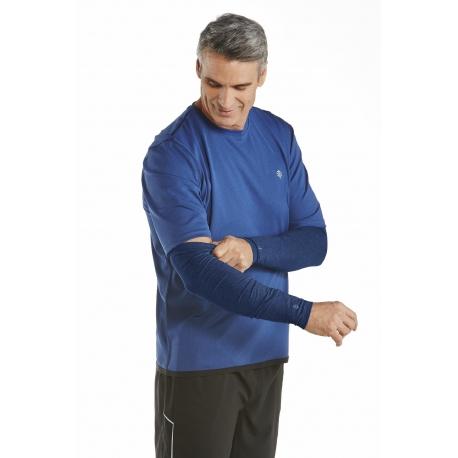 Coolibar - Manchon anti UV pour Hommes - Bleu Marine