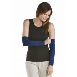 Coolibar - Manchon anti UV pour Femmes - Bleu Marine