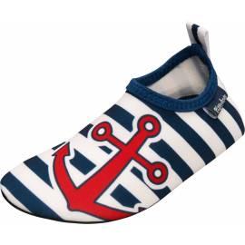 Playshoes - Chaussures de bain anti UV pour enfants - Bleu / Blanc / Rouge