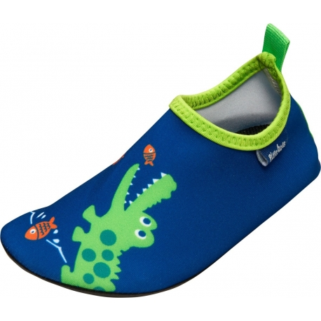 Playshoes - Chaussures de bain anti UV Crocodile - Bleu / Vert