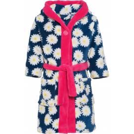 Playshoes - Robe de Bain Polaire pour Enfants - Bleu Marine / Rose