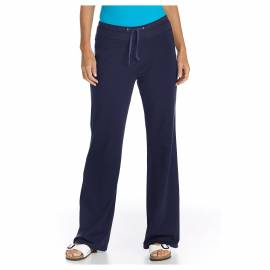 Coolibar - Pantalon Capri anti UV pour Femmes - Bleu Foncé