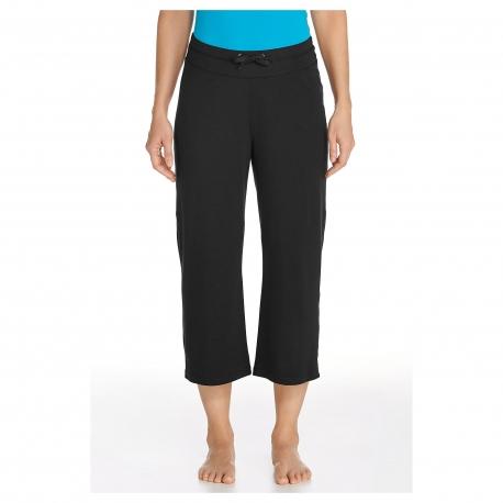 Coolibar - Pantalon Capri anti UV pour Femmes - Noir