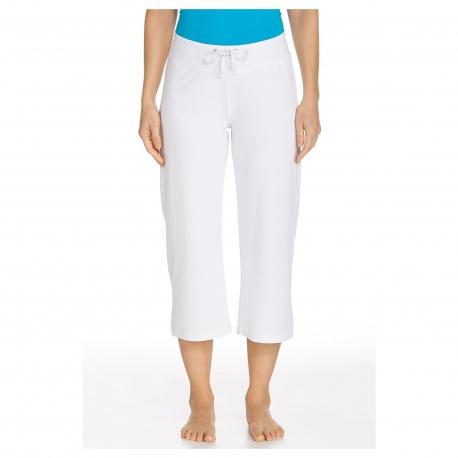 Coolibar - Pantalon Capri anti UV pour Femmes - Blanc