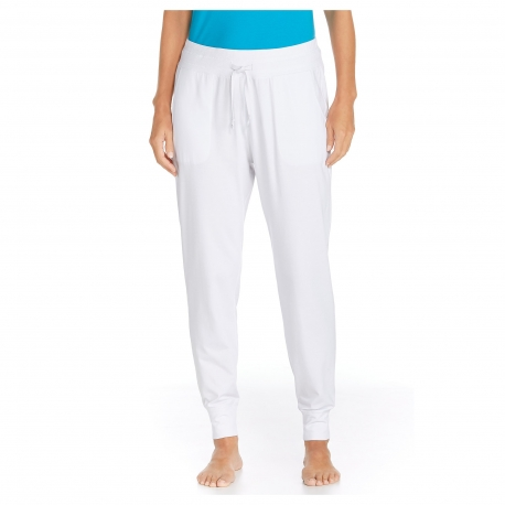 Coolibar - Pantalon Anti Uv pour Femmes - Blanc