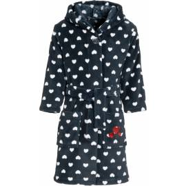 Playshoes - Robe de Bain à capuche en Polaire pour Filles - Bleu