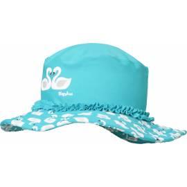 Playshoes - Chapeau de soleil pour Filles - Cygnes - Clair Bleu
