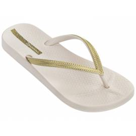 Ipanema - Tongs pour Femmes Anatomic Mesh - Beige/Or