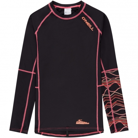 O'Neill - T-shirt Sport Anti UV Filles- Noir